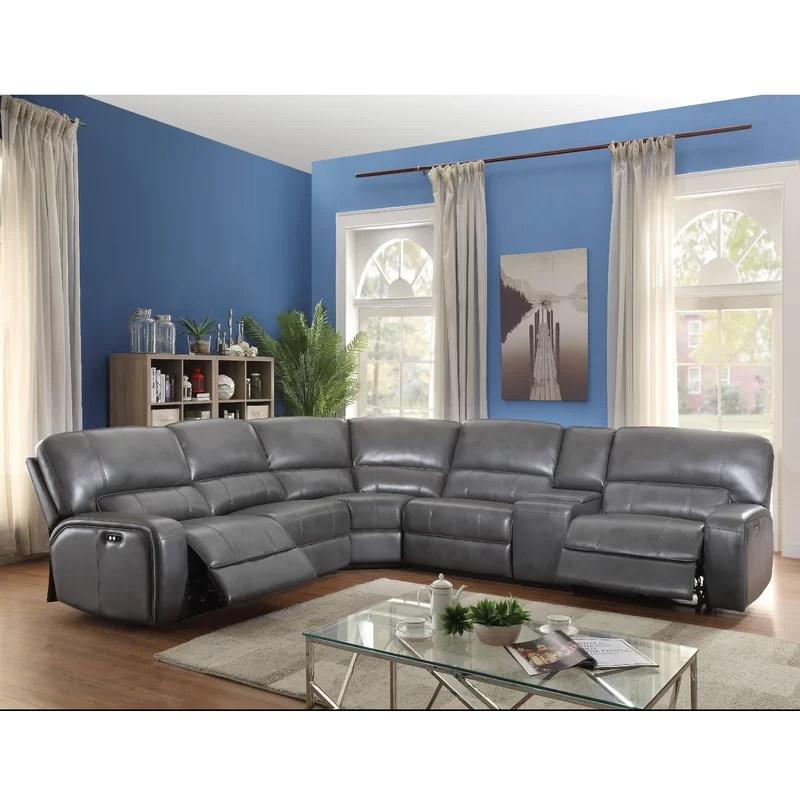 madelia 96 wide faux leather symmetrical reclining large sectional
