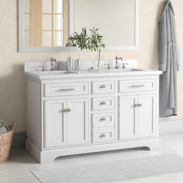 double vanity with vessel sink