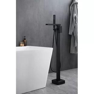 wayfair matte black bathtub faucets