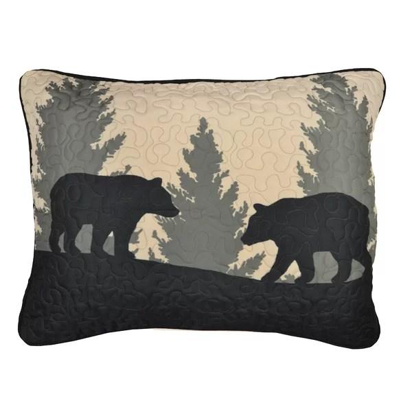 black bear lodge pillow shams