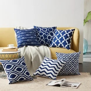 outdoor square pillow cover set of 6
