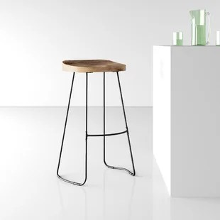 jai solid wood bar stool