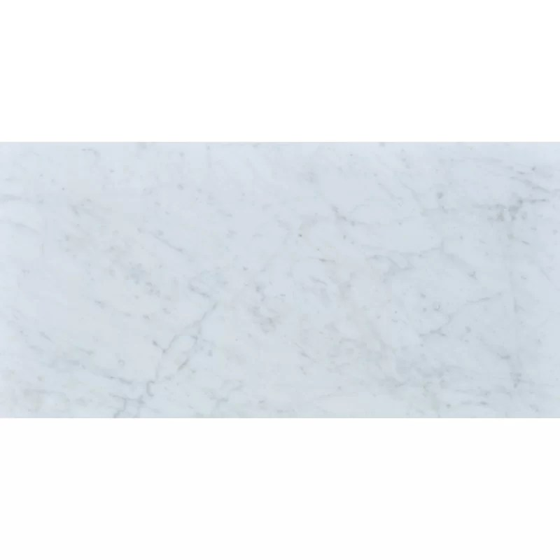 carrara 12 x 24 honed marble field tile in white