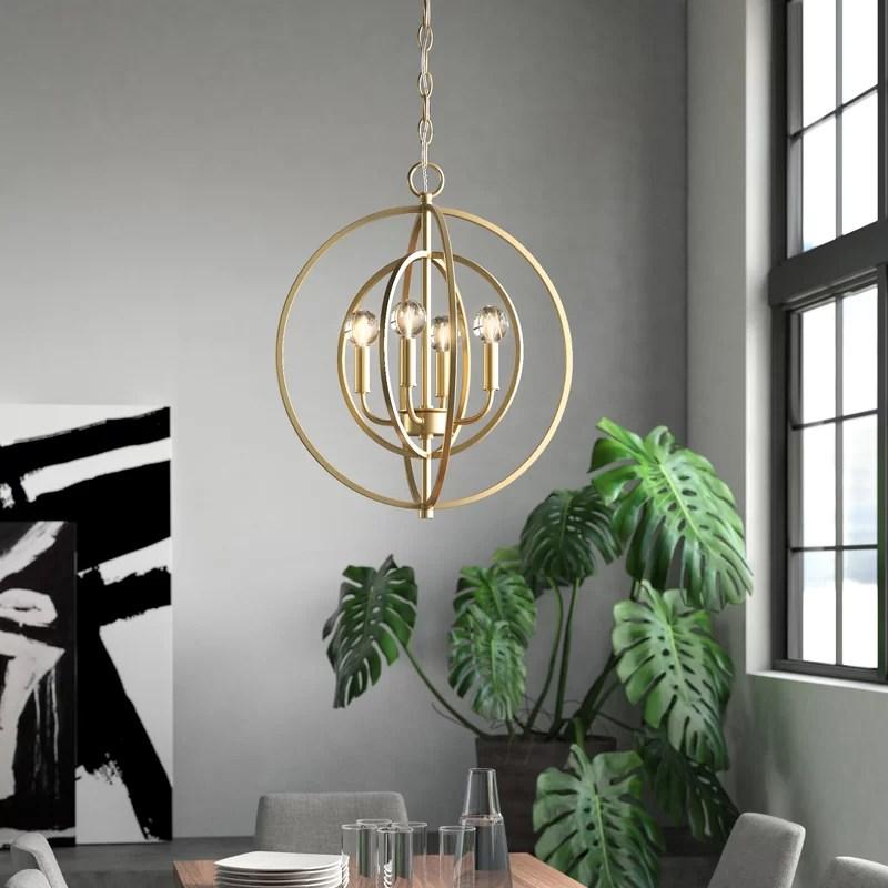 nyberg 4 light globe chandelier