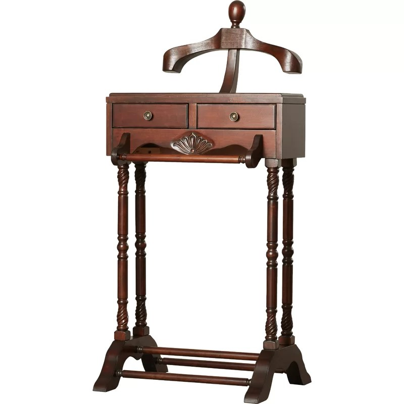 Men's Valet Stand With Drawer