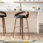 Corrigan Studio Maxime Swivel Bar Counter Stool Reviews Wayfair Ca