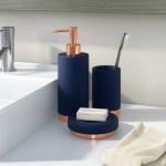Designer 3 Piece Bathroom Accessory Set Soap Pump Tumbler Toothbrush Holder Home Garden Bath