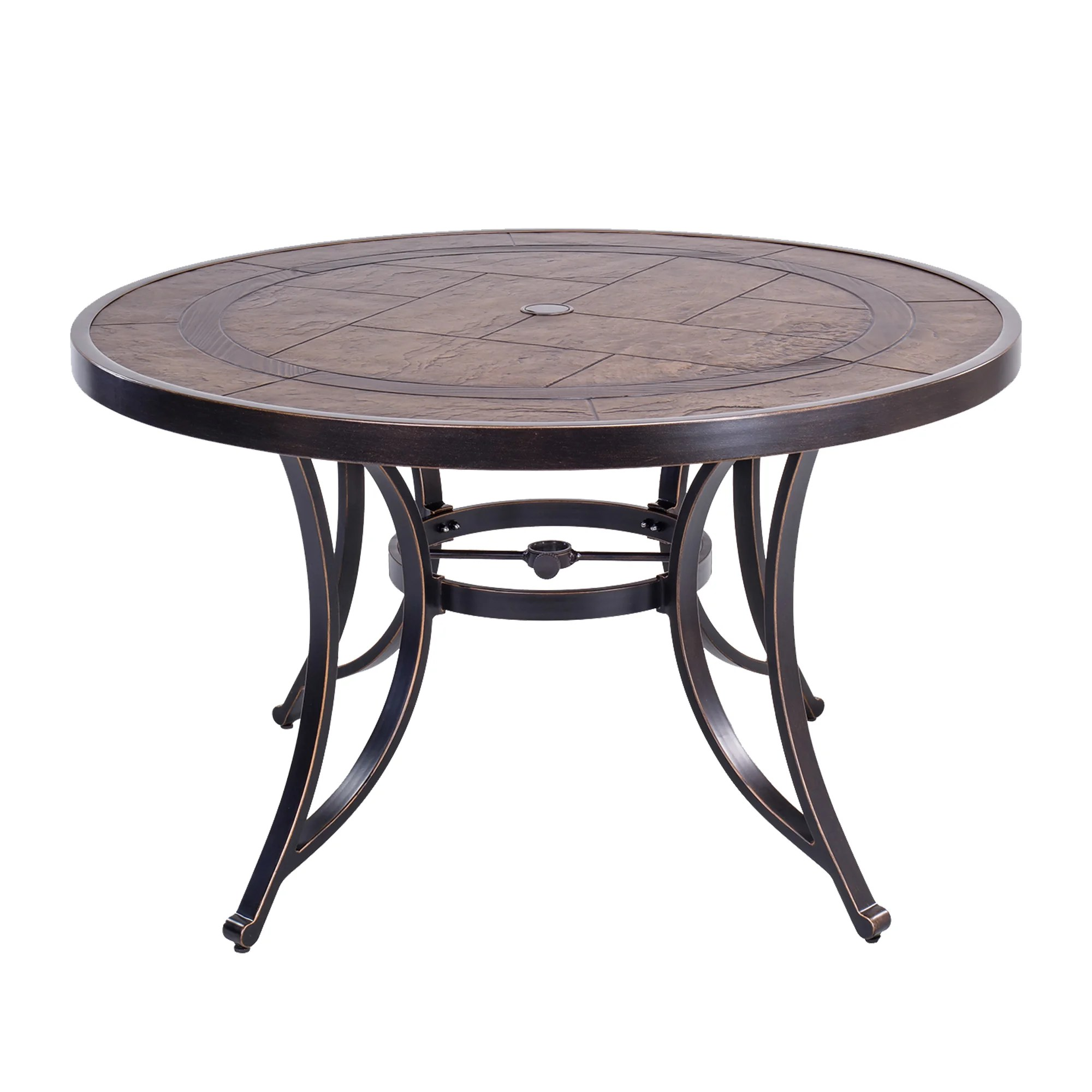 48 round dining table outdoor patio garden furniture