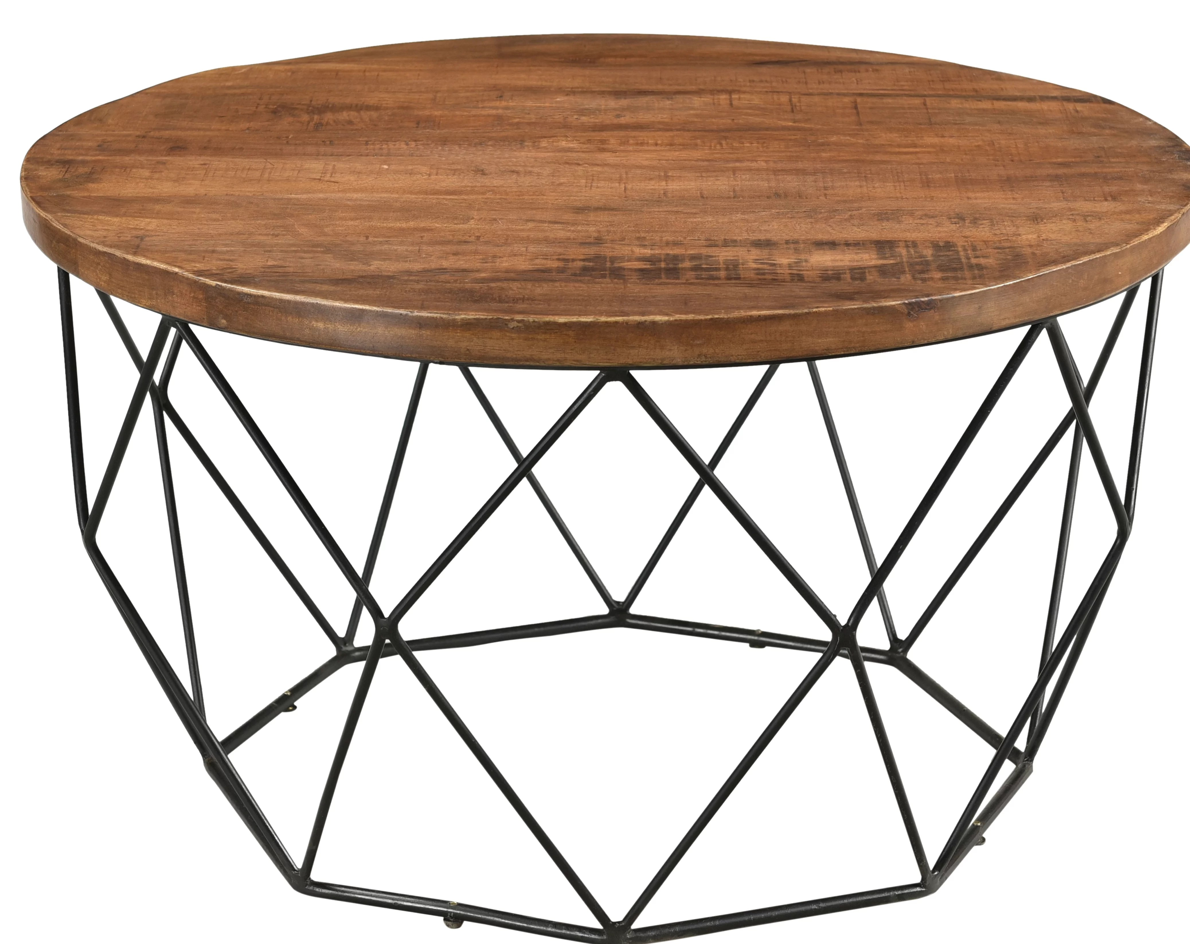 fatima round cocktail table with tray top