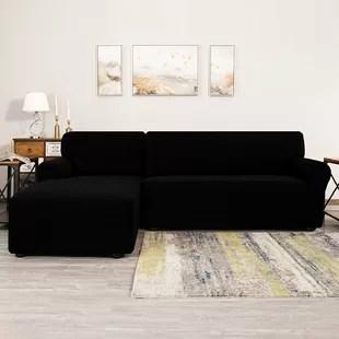bolee l shaped textured grid stretchy box cushion sofa slipcover