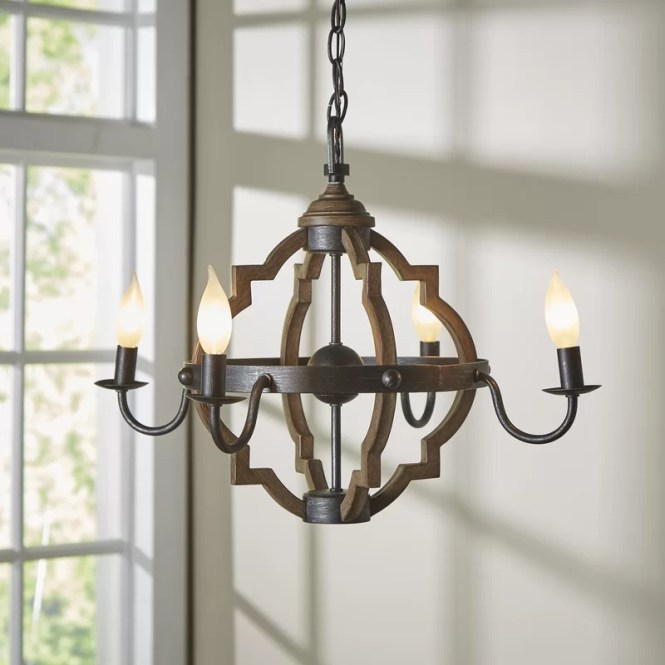 Donna 4 Light Candle Style Chandelier
