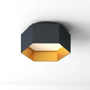 modern gold flush mount lighting