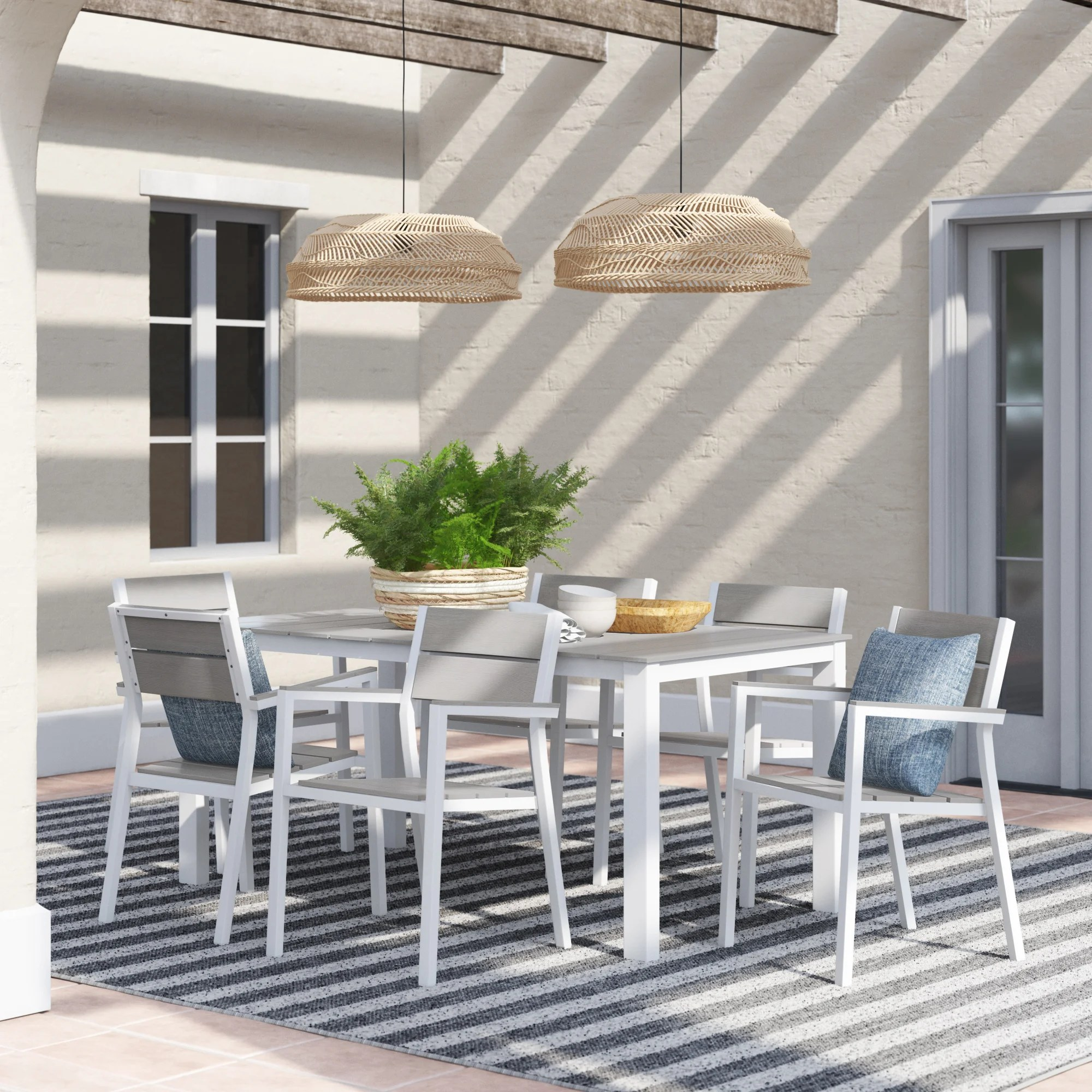 churchton outdoor patio 7 piece dining set
