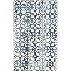 Naples Park Hand-Tufted Ivory/Navy Area Rug