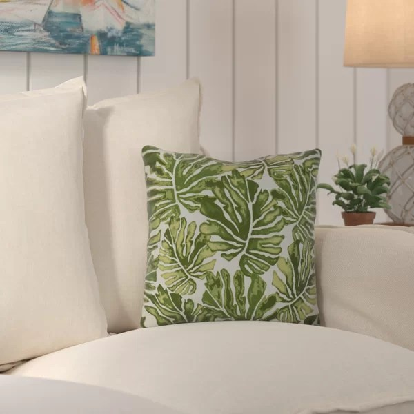banana leaf outdoor pillow