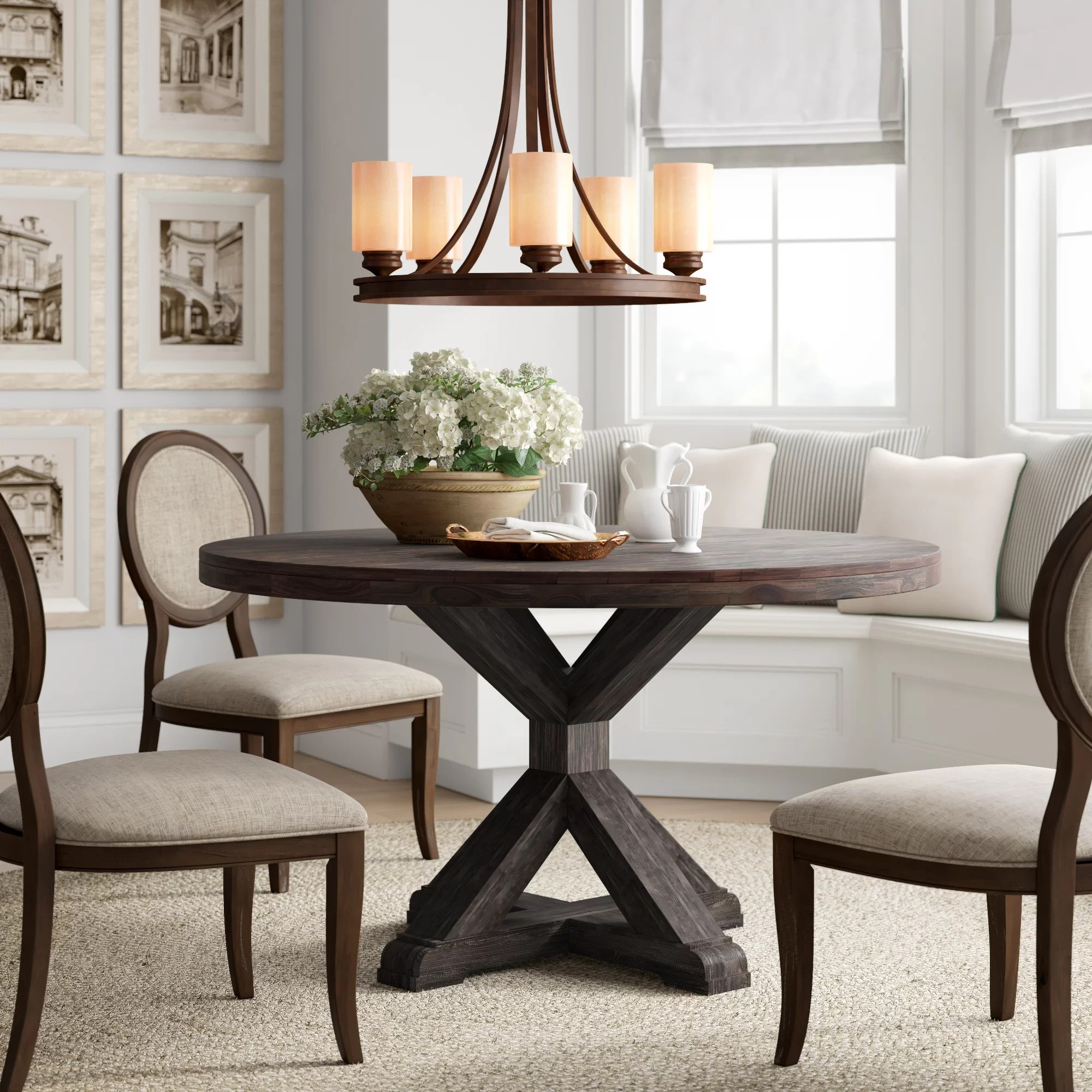 Huntingdon Solid Wood Dining Table Reviews Birch Lane