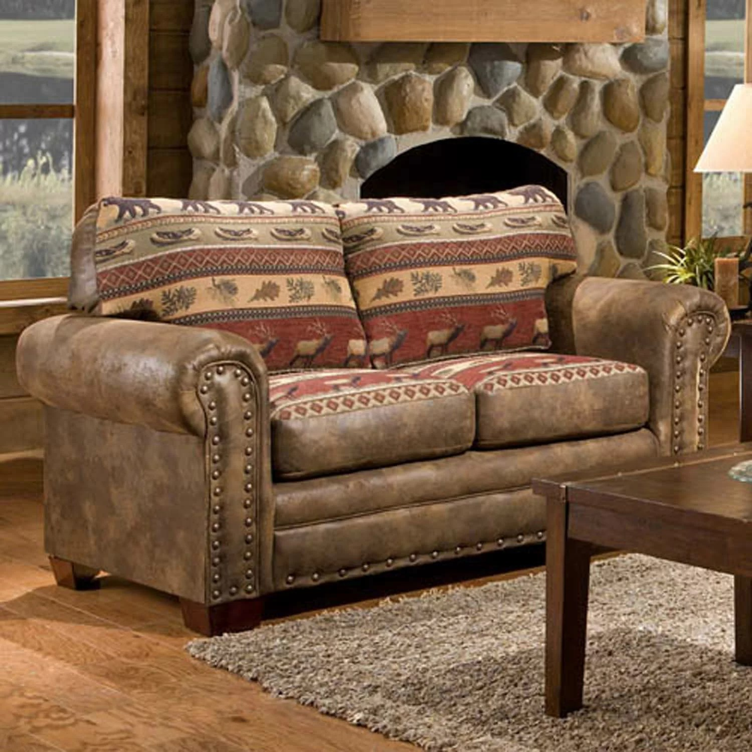 American Furniture Classics Sierra Lodge 4 Piece Living Room Set Part 60