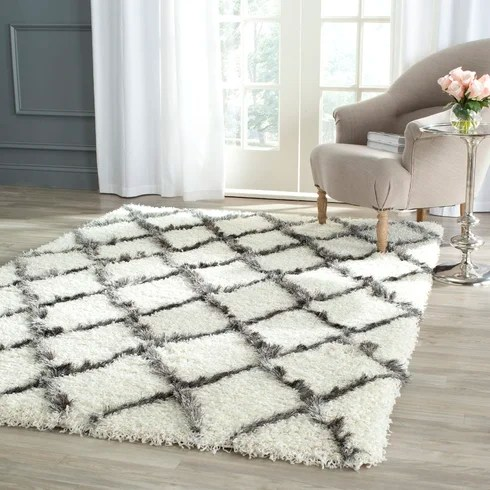 Brayden Studio Sewell Moroccan Ivory Gray Area Rug Reviews Wayfair