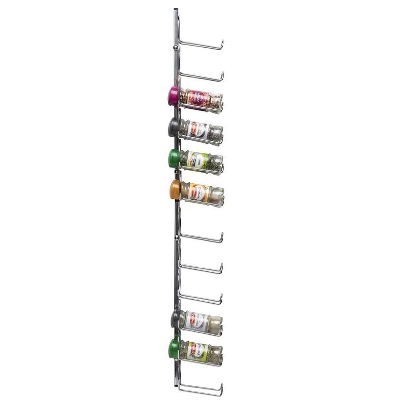 pisa chrome left handed 12 jar wall cabinet door mounted spice rack