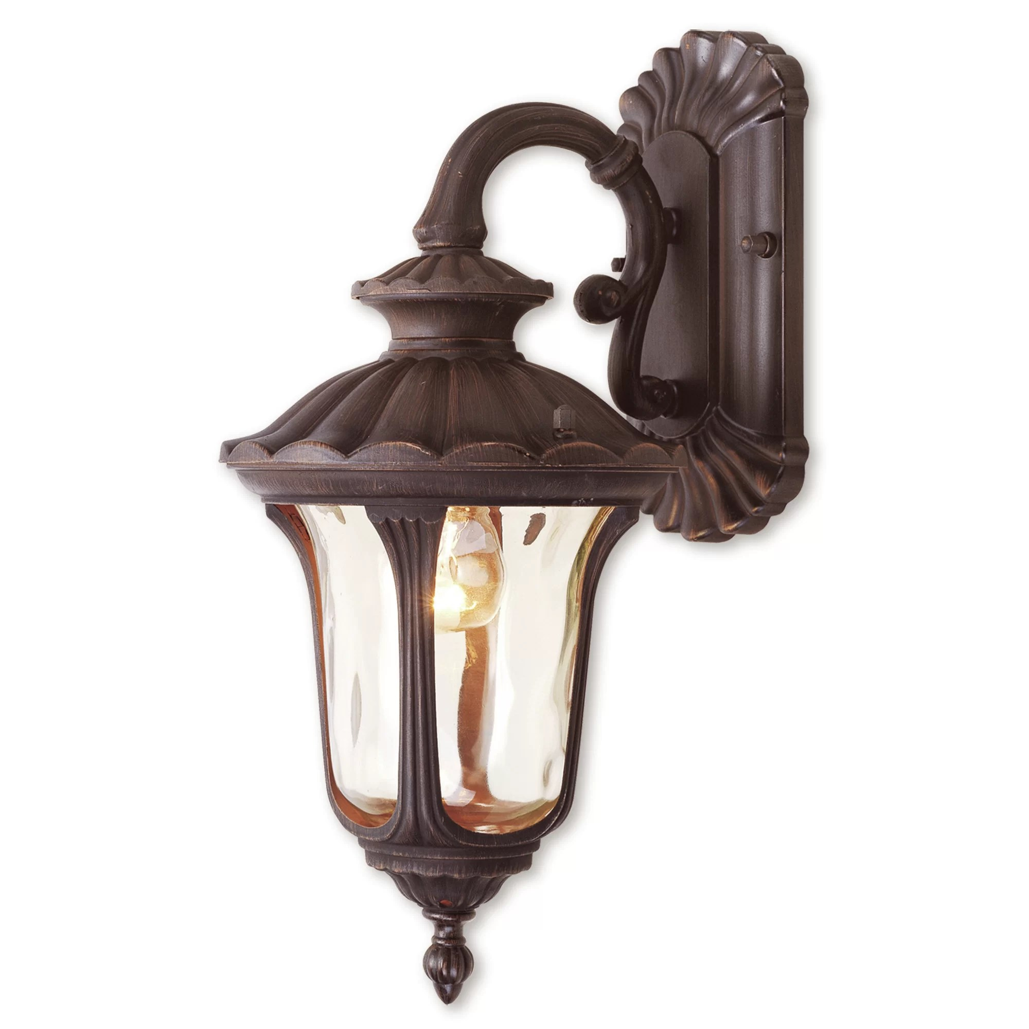 patriot imperial bronze water glass outdoor wall lantern