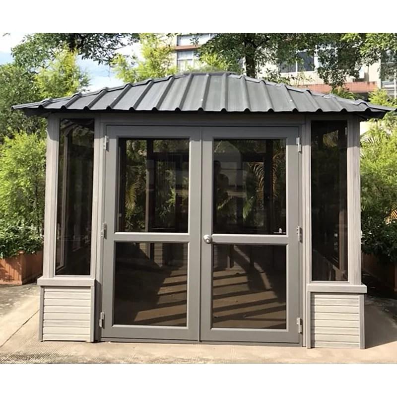 denali backyard studio 9 5 ft w x 9 5 ft d solid wood patio gazebo