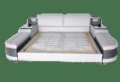 Orren Ellis Aslef King Upholstered Low Profile Storage Platform Bed