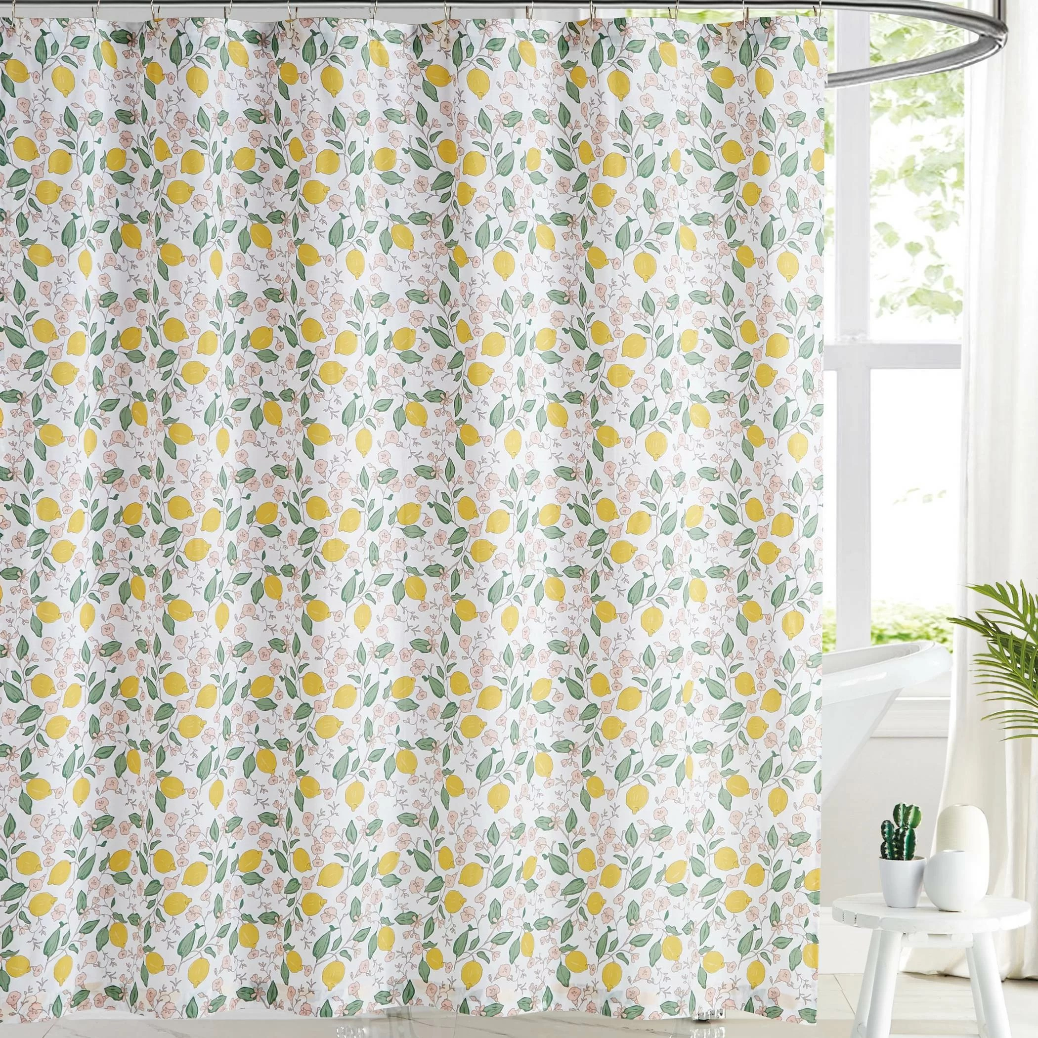 vanbrugh 100 cotton floral single shower curtain