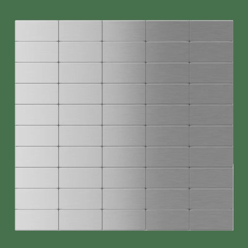 12 x 12 metal peel stick subway tile