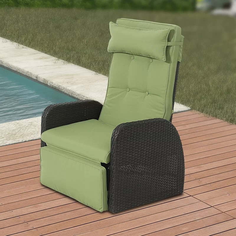 outdoor recliner patio chair with cushions