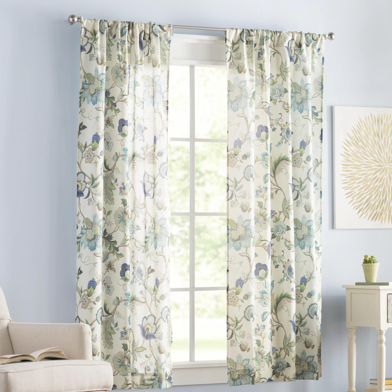 jorma floral room darkening rod pocket curtain panels