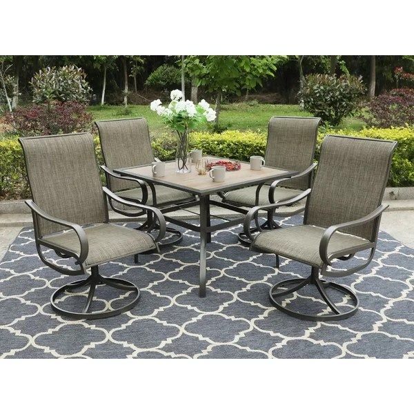 patio sets with swivel chairs