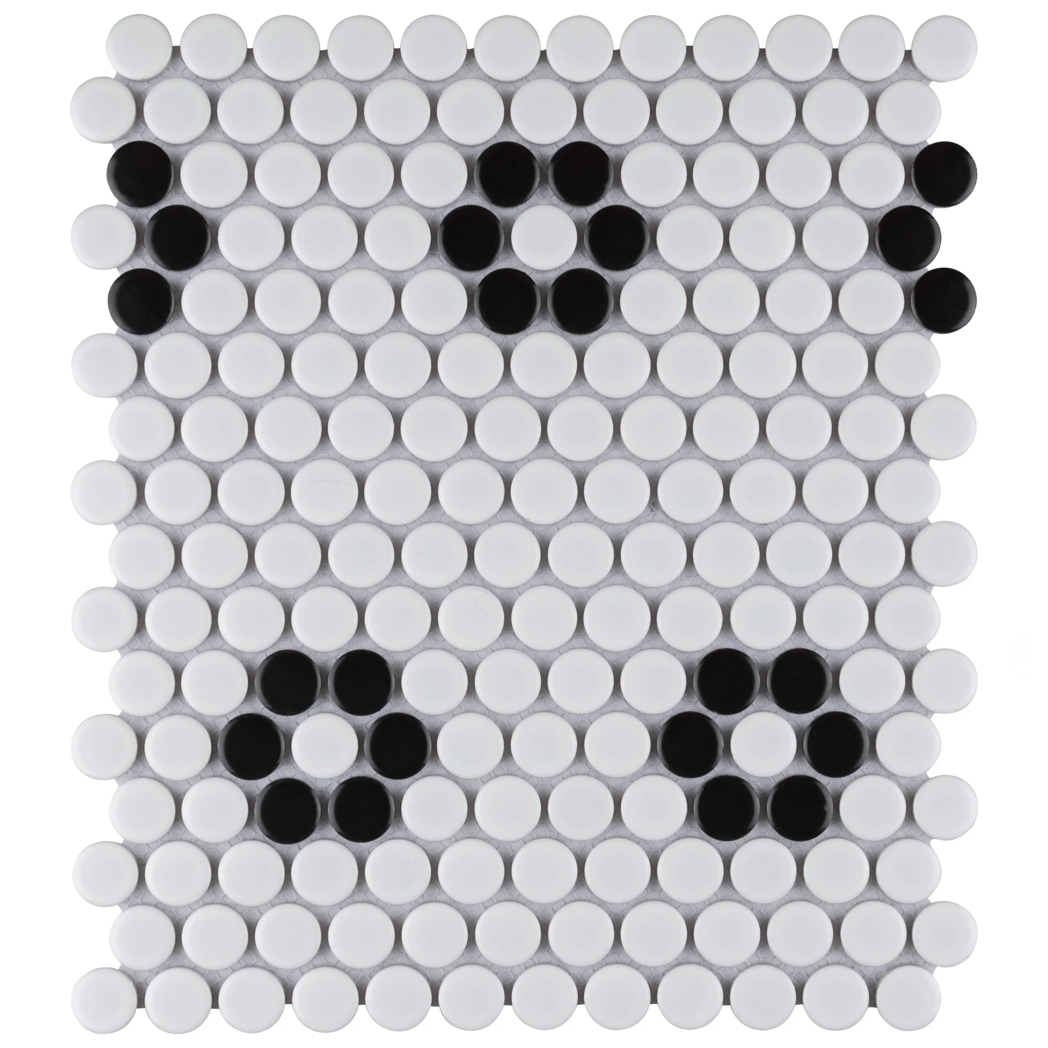 retro penny 0 76 x 0 76 porcelain penny round mosaic wall floor tile