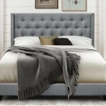 Greyleigh Aadvik Tufted Upholstered Low Profile Standard Bed Reviews Wayfair