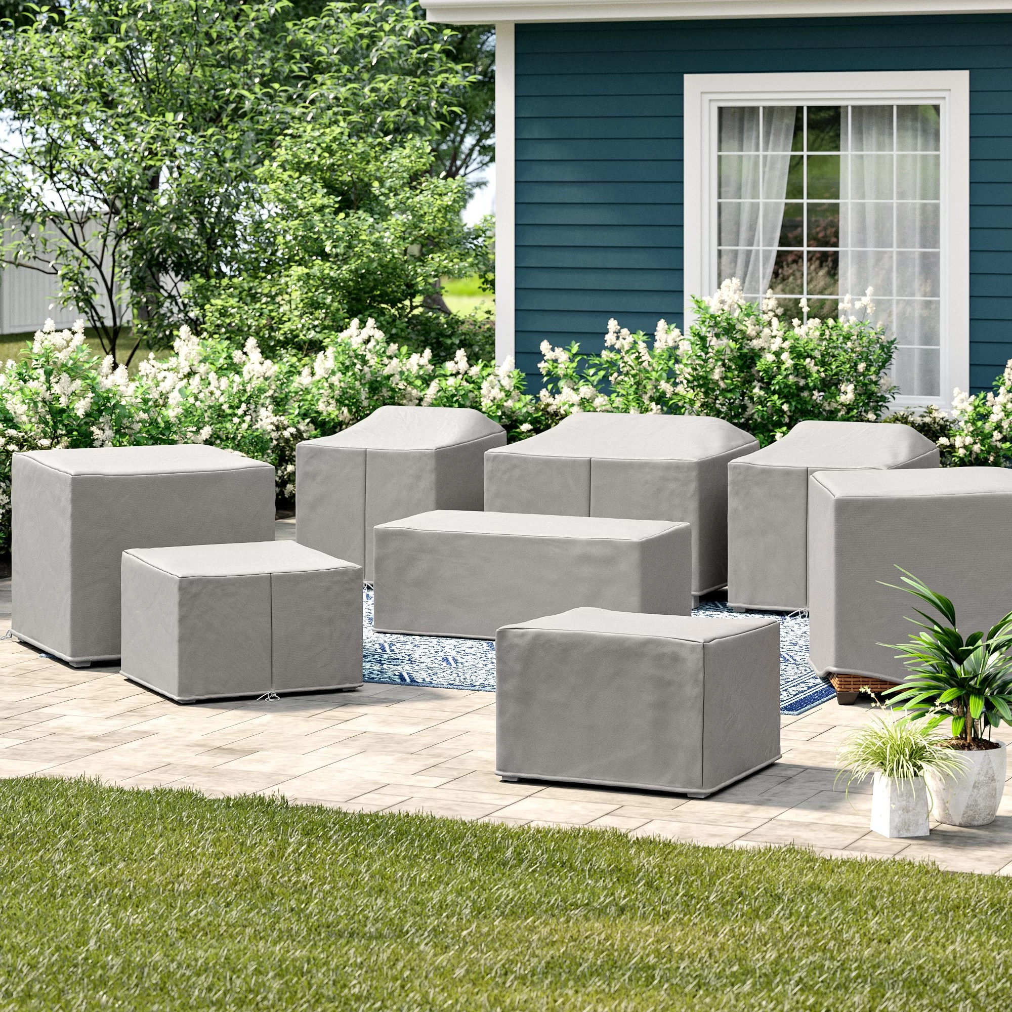 fairfield 8 piece water resistant patio furniture cover set