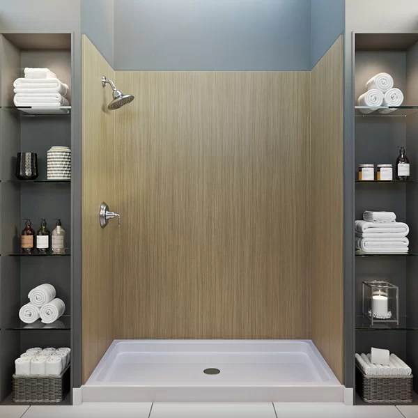 cultured marble shower wall