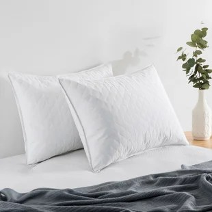 joss main essentials down and feathers pillow set of 2