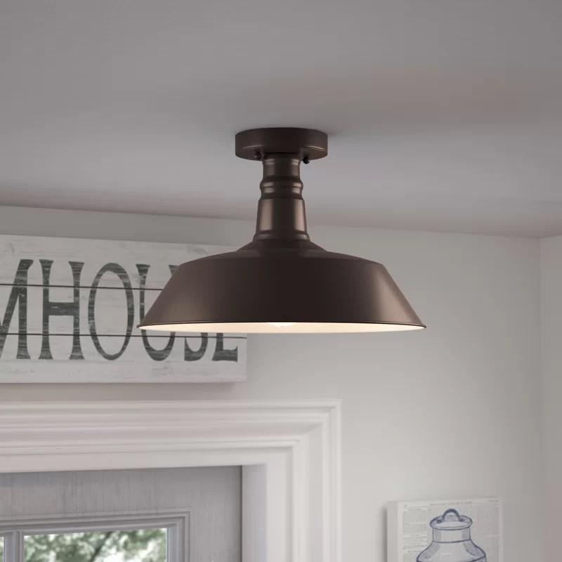 saladino 1 light 14 25 simple dome semi flush mount