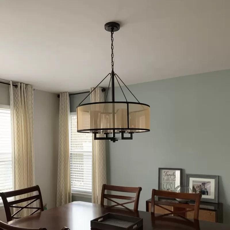 sina 4 light statement drum chandelier