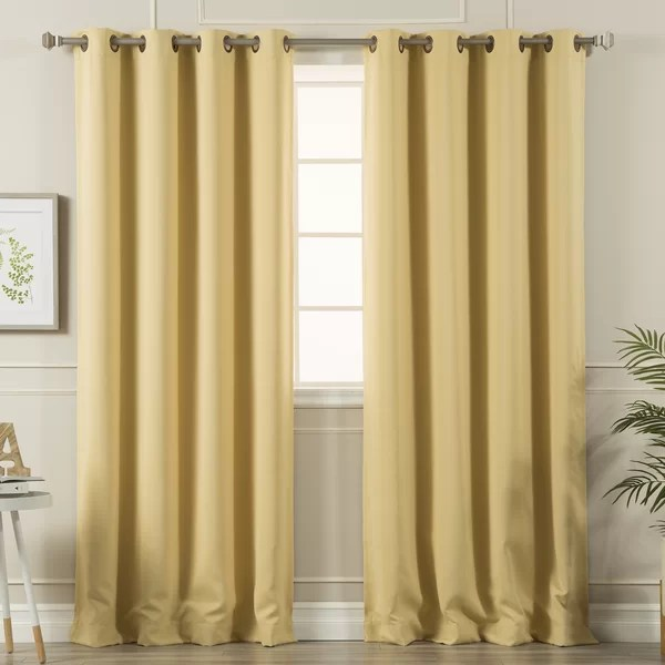 navy blue and gold curtains