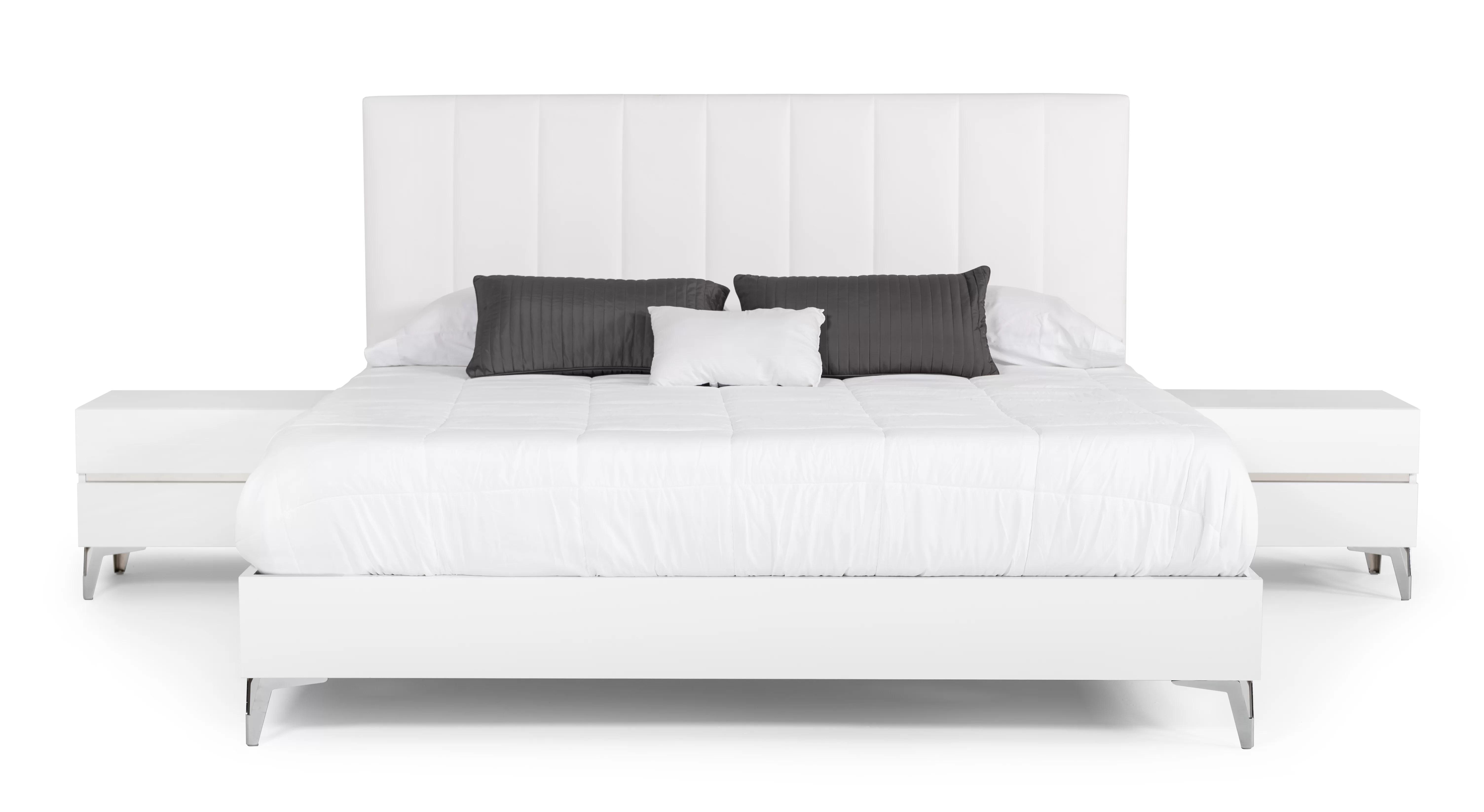 https www wayfair com furniture pdp orren ellis kayna italian modern white eco leather w nightstand platform 3 piece bedroom set w001335536 html