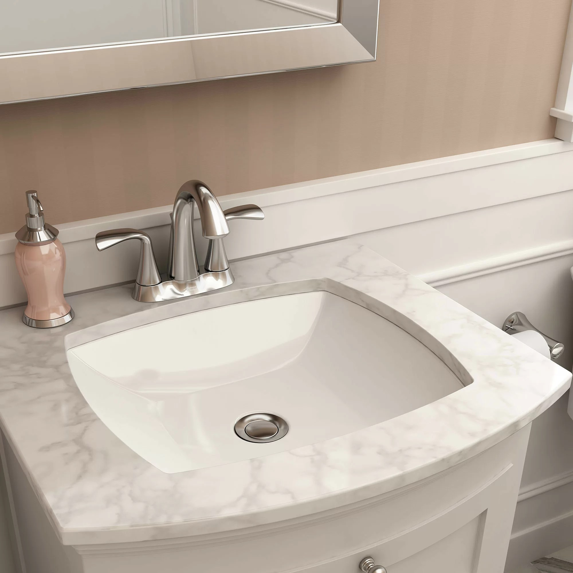 vessel sink top w polish faucet pop up