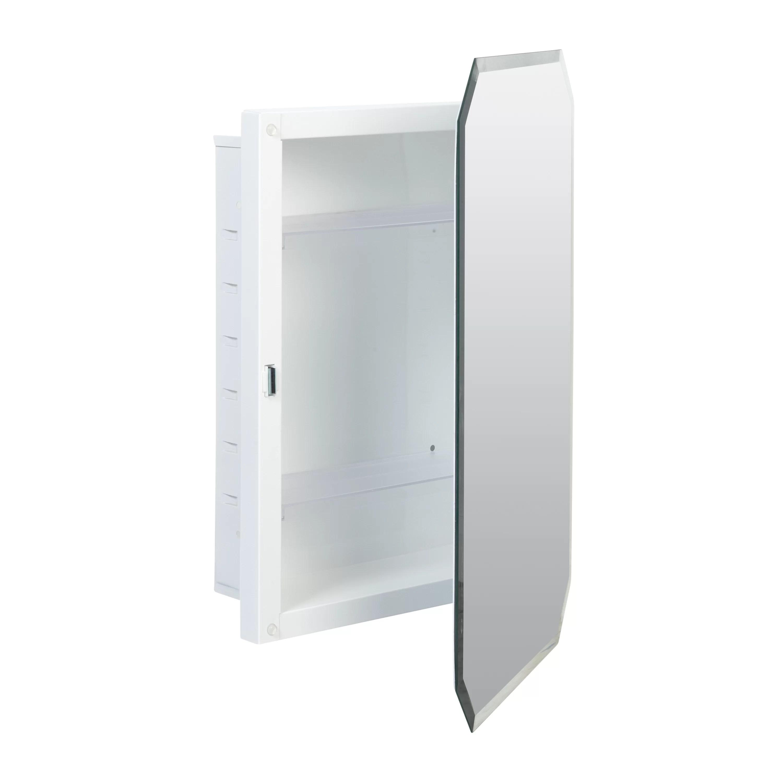 Westling Recessed Frameless Medicine Cabinet With 3 Adjustable Shelves Reviews Birch Lane