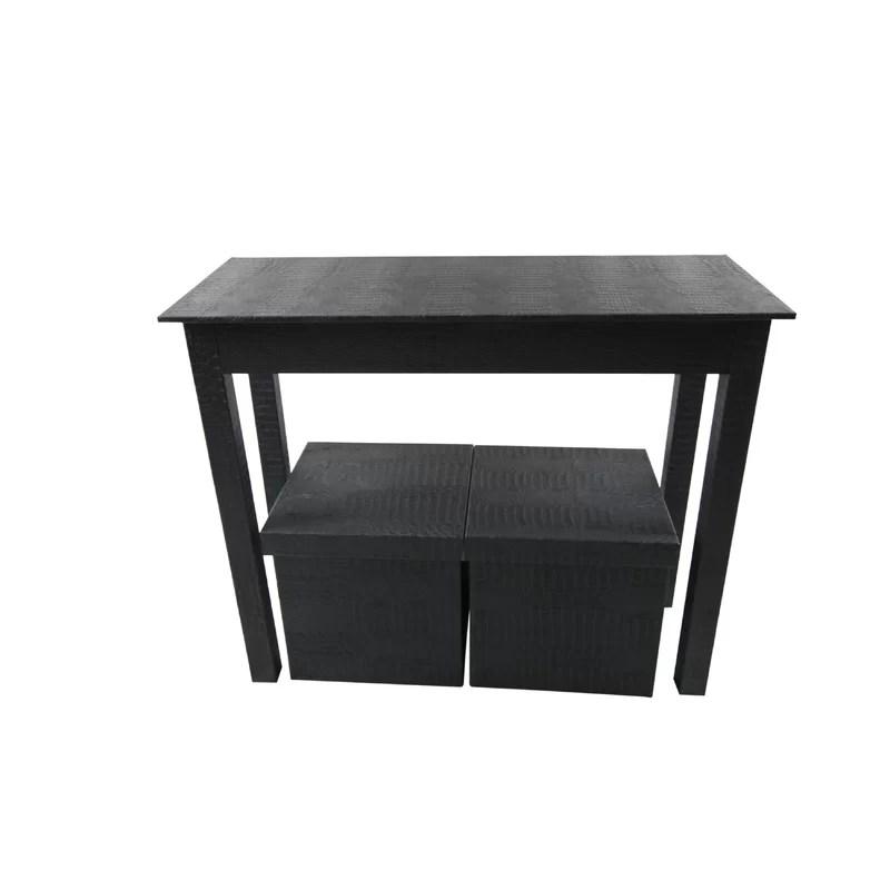 3 piece console table set