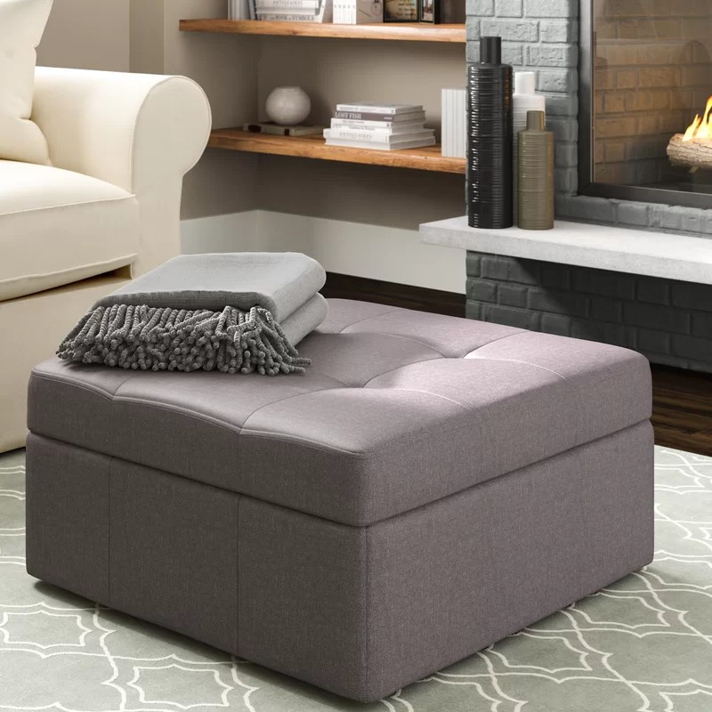 baronets 31 tufted square storage ottoman