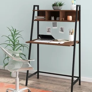 Faulk Ladder Desk With Hutch