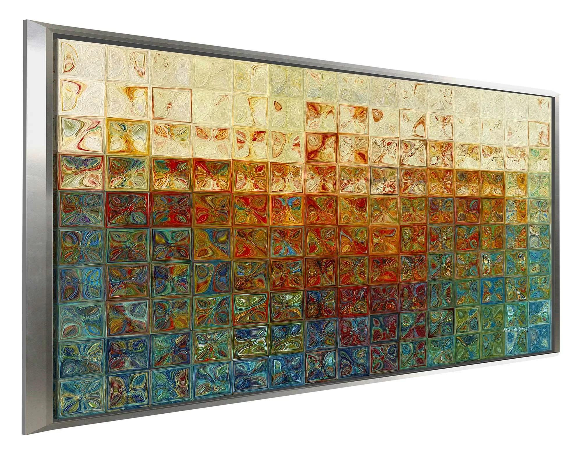 tile wall art 2 2015 framed graphic art print on canvas