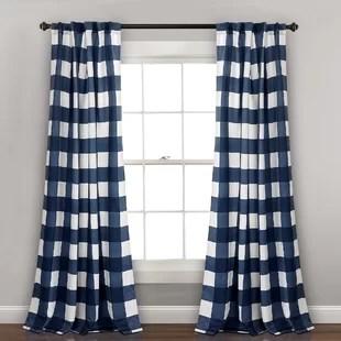 angeles checker plaid room darkening thermal curtain panels set of 2