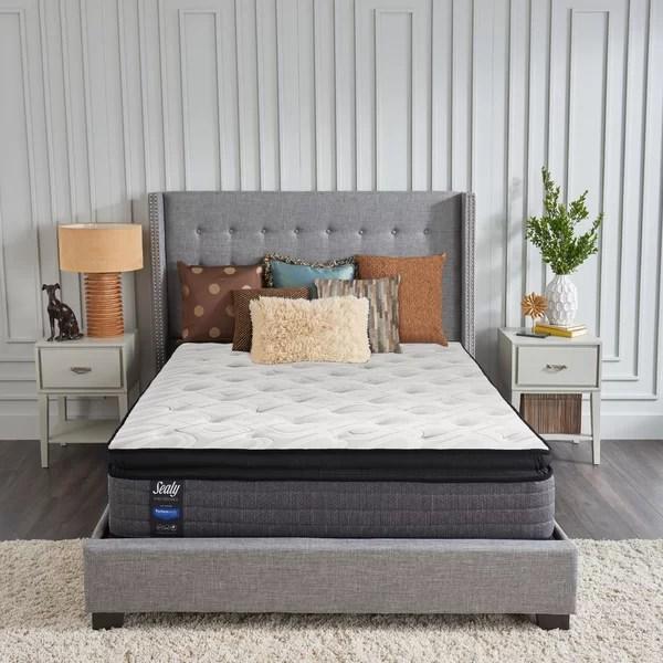 sealy response 14 plush pillow top mattress and box spring set