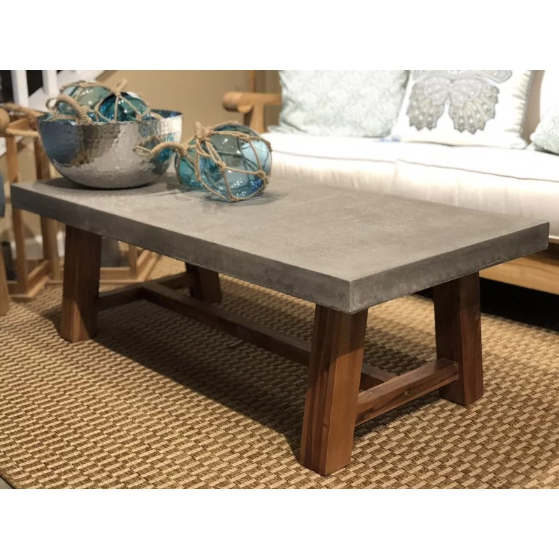 colegrove stone concrete coffee table