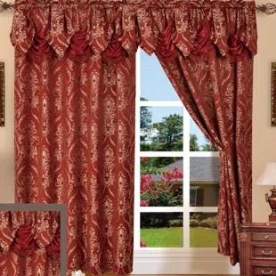 heideman damask room darkening rod pocket curtain panels set of 2
